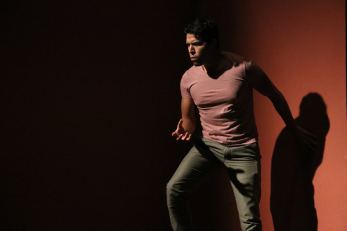 Ethan Simpson, second-year Resident Artist performs in rehearsal