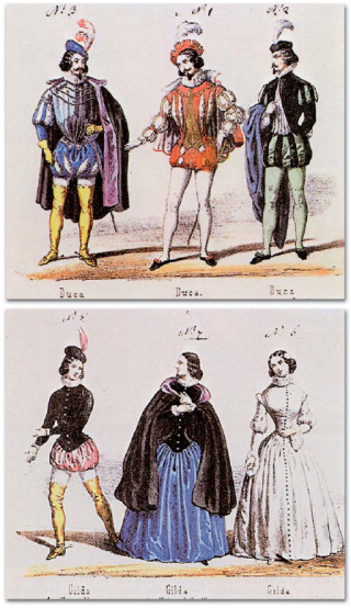 Rigoletto_premiere_costumes_for_the_Duke_and_Gilda